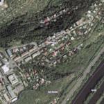 Letecký snímek Barrandova z roku 2000