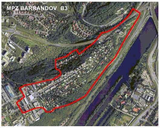 Vymezení chráněného území Městské památkové zóny