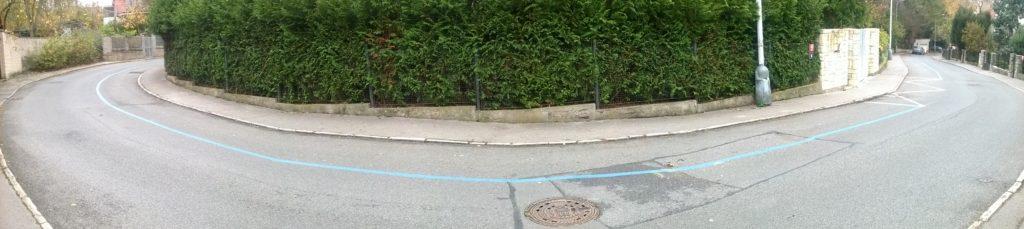 Filmařská ulice bez aut