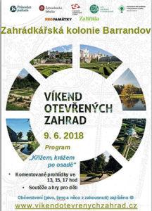 Plakát - Víkend otevřených zahrad 2018