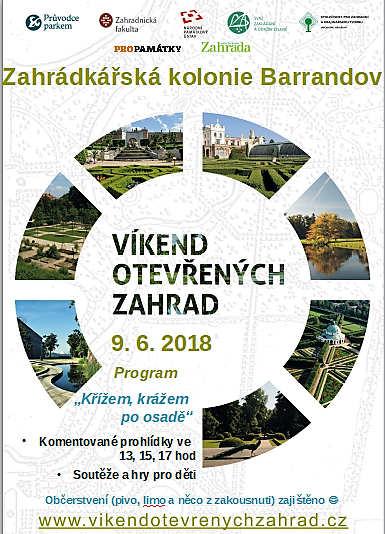 Plakát akce Víkend otevřených zahrad 2018